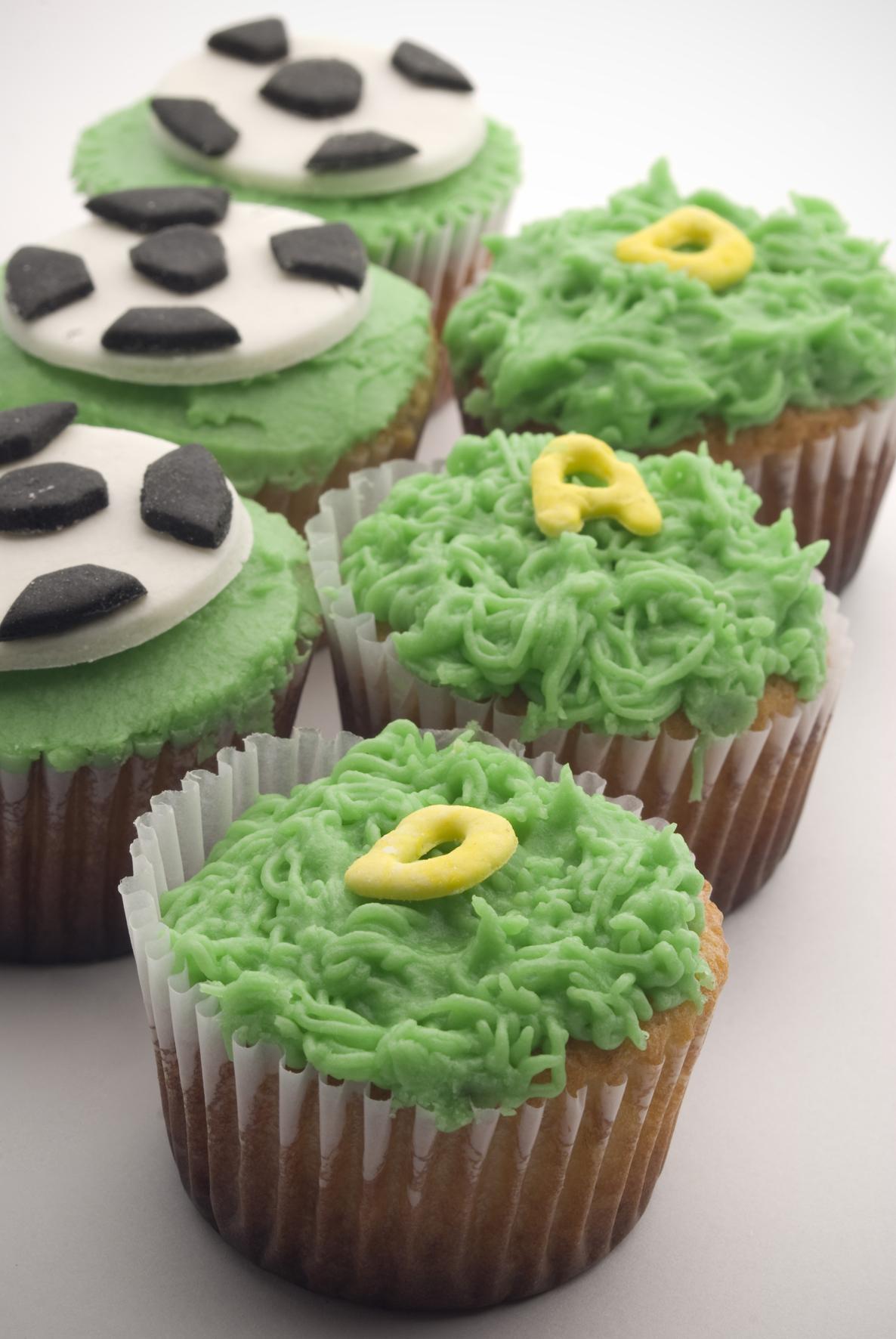 Cupcakes Con Los Escudos De Los Equipos De Futbol
