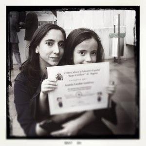 Mafer y su hija Antonia