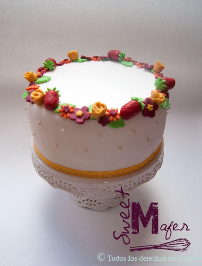 torta-flores-y-fresas