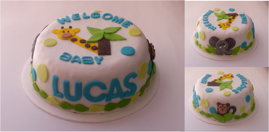Torta baby shower y tortas light