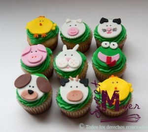 cupcakes-animales-granja