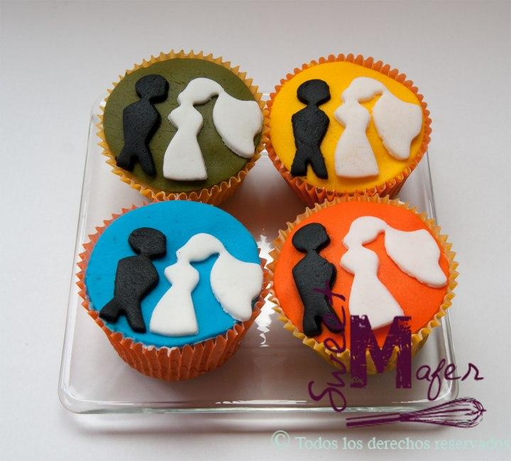 cupcakes-siluetas-novios
