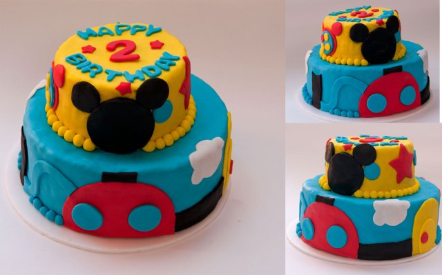 torta de la casa de mickey mouse para la celebracion