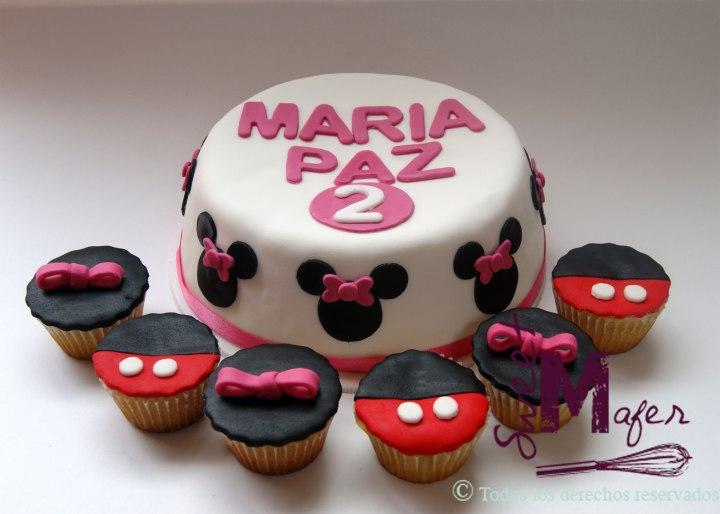 torta-minnie-plana-cupcakes