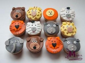 animales-selva-cupcakes