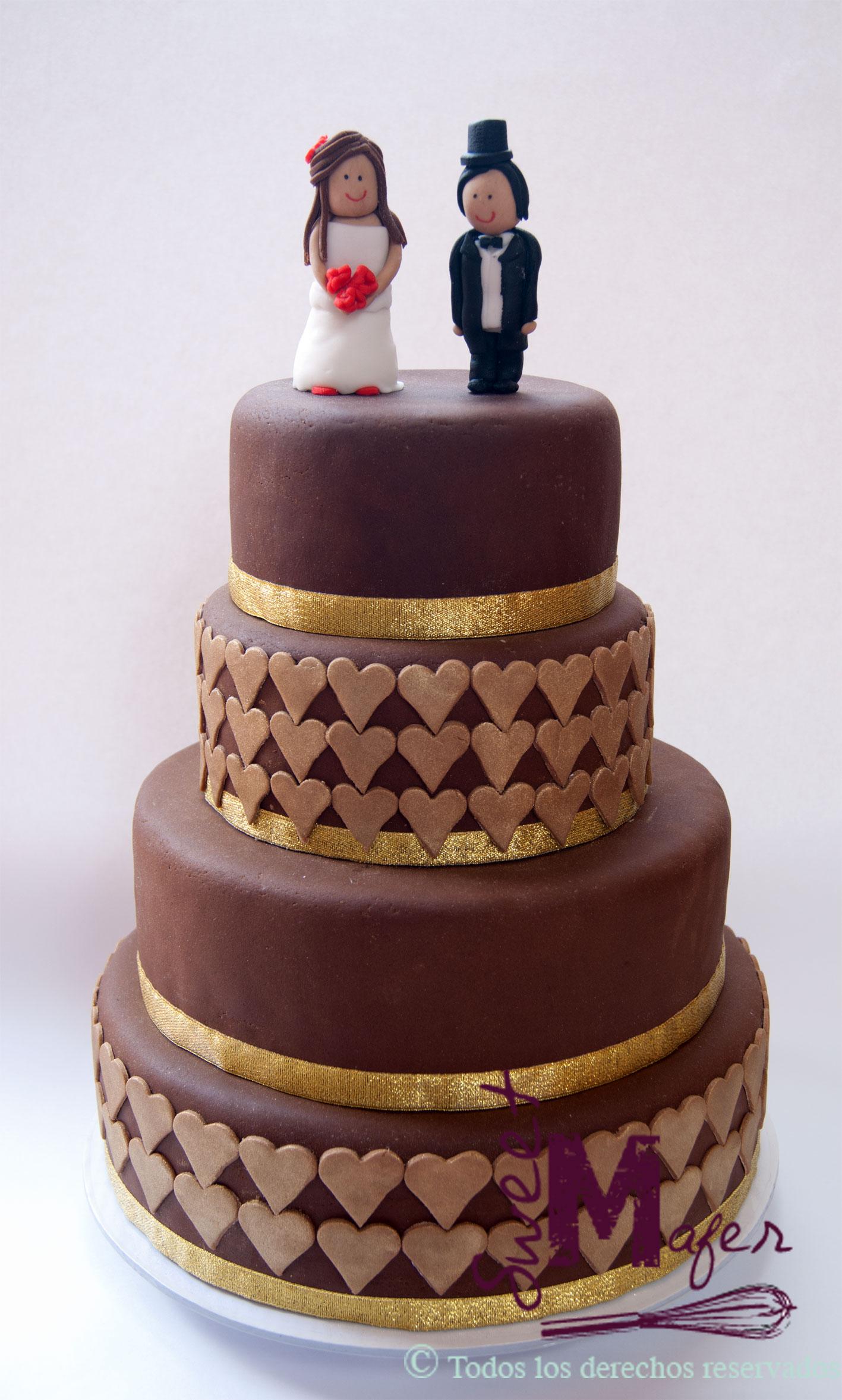 Tortas Para Matrimonio Rustico : Torta boda martha