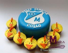Torta de Millonarios (Millos), para el 'Pollo'. © Sweet Mafer