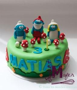 torta-pitufos