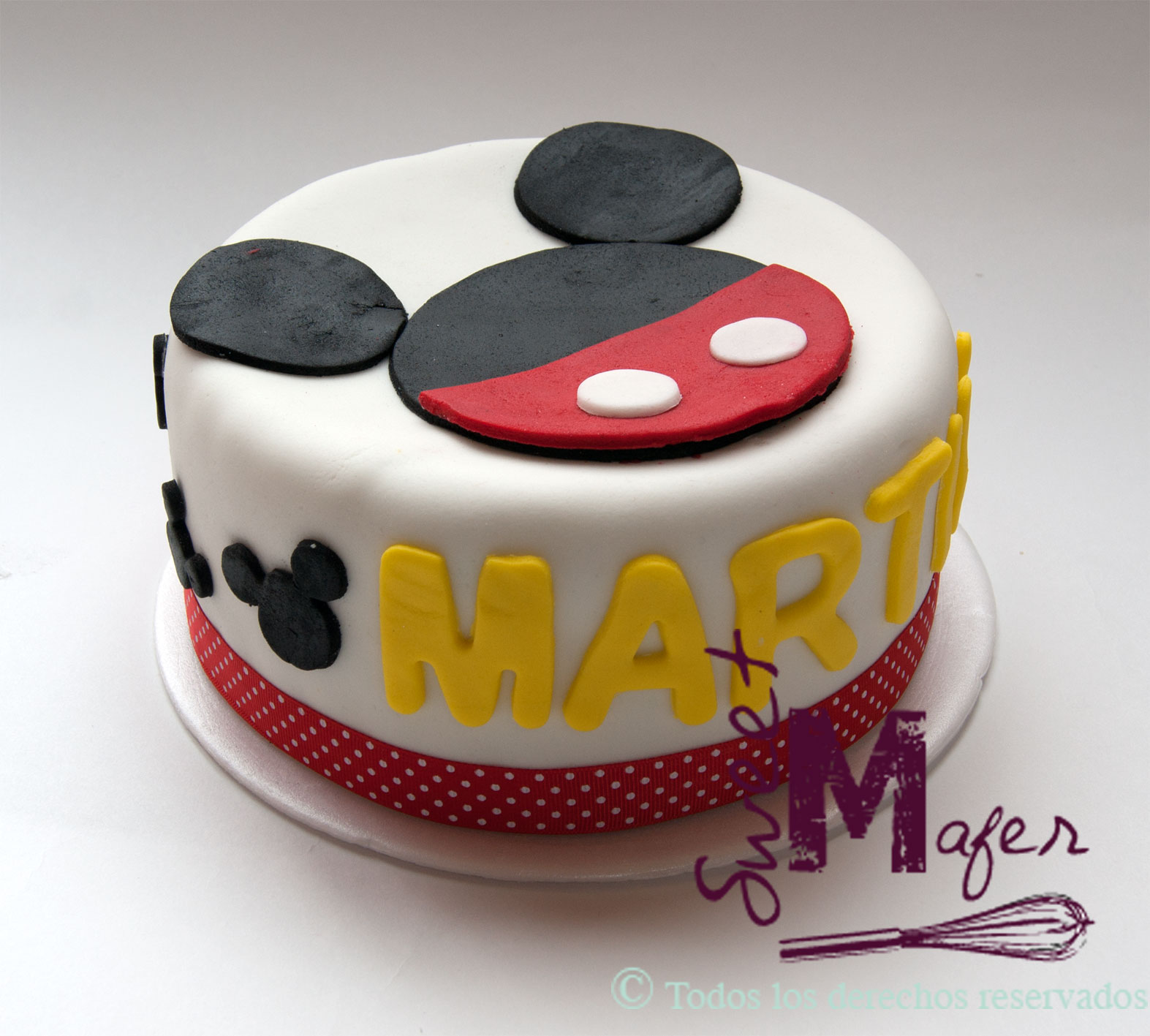 Torta mickey pequena - Gateau mickey facile ...