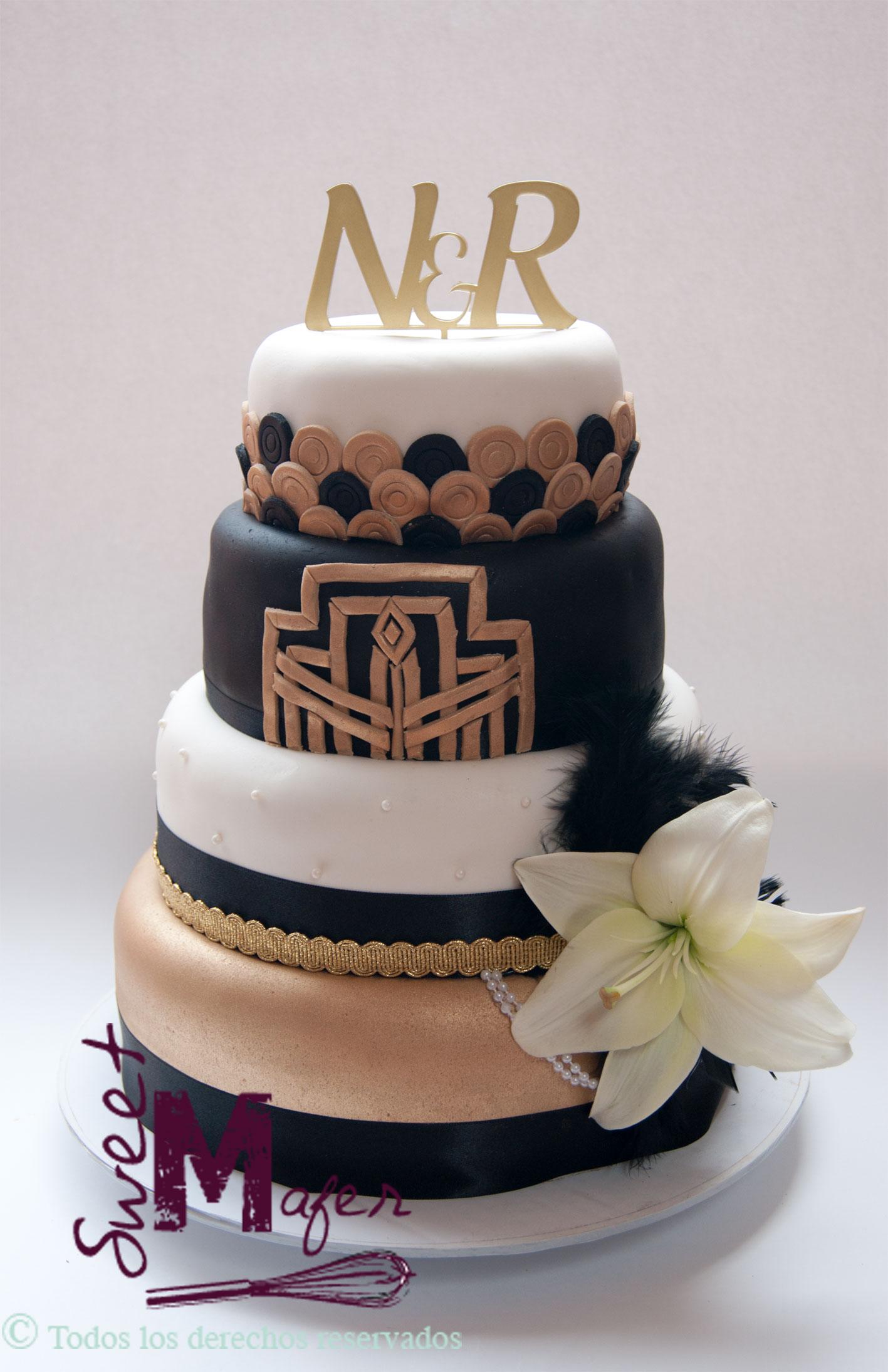 Torta boda anos 20 - Cumpleanos dos anos ...