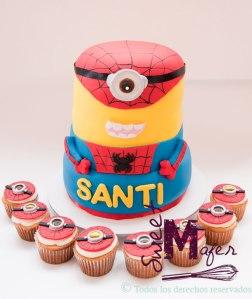 spiderman-minion-cake-