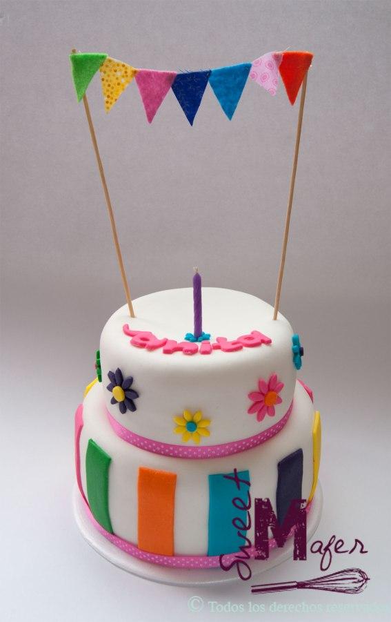 torta-cumple--rayas-y-flores