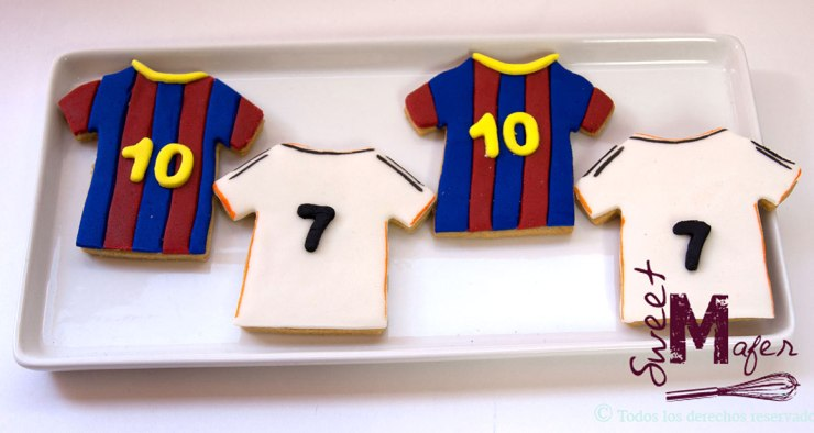 Galletitas con las camisetas del Real Madrid y el Barcelona © Sweet Mafer