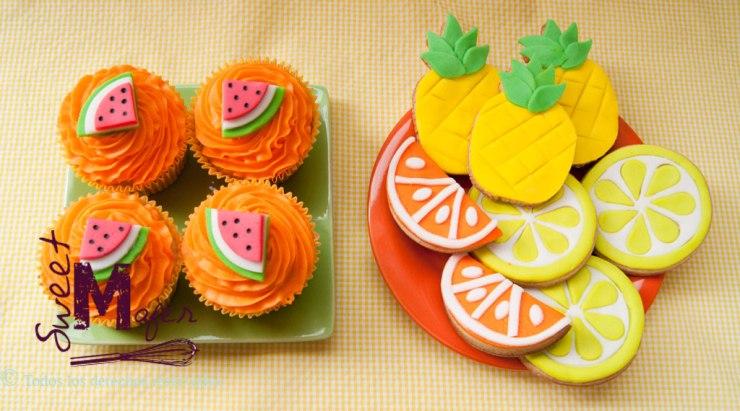 Galletas y cupcakes de frutas tropicales de Sweet Mafer