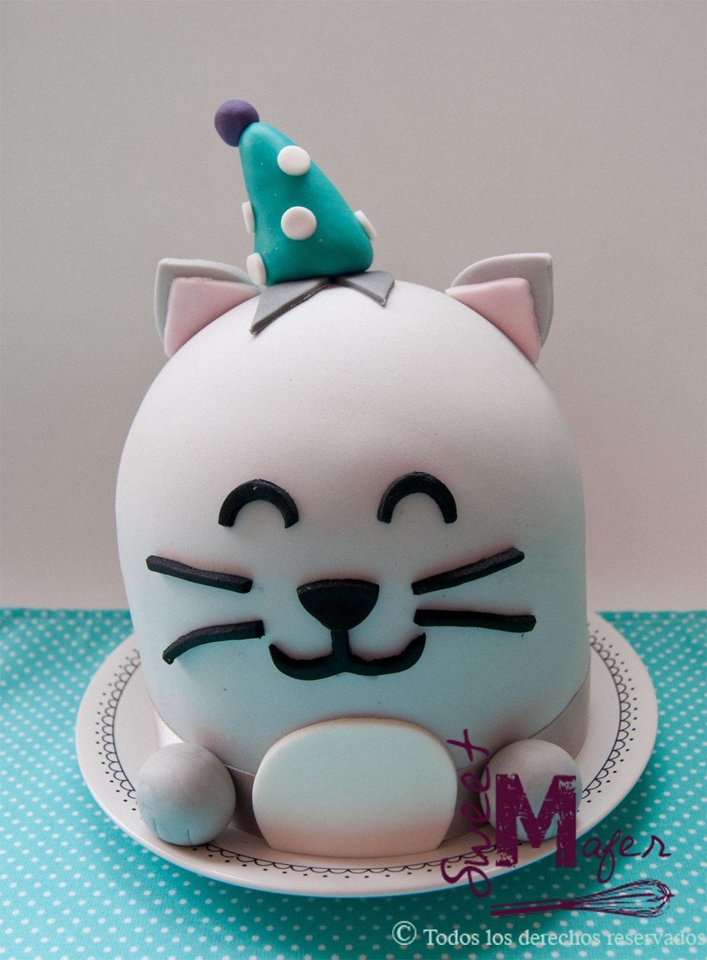 Torta gato cumpleañero