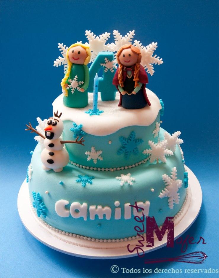 Torta Frozen con Anna, Elsa y Olaf