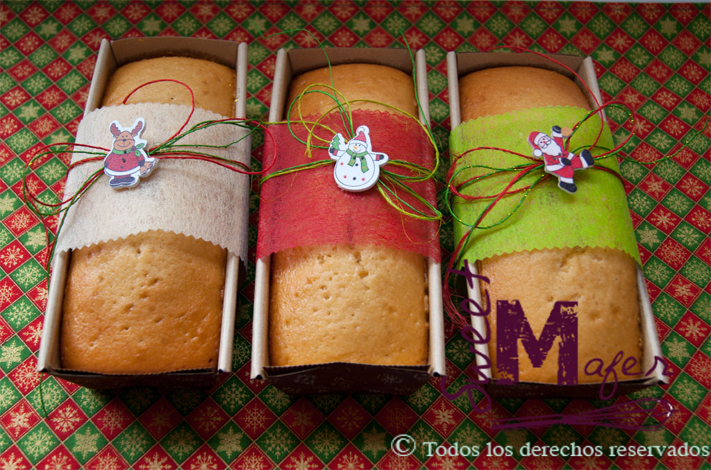 Bizcochos de navidad Sweet Mafer. Disponibles en masas de limón, naranja o yogur griego con miel.
