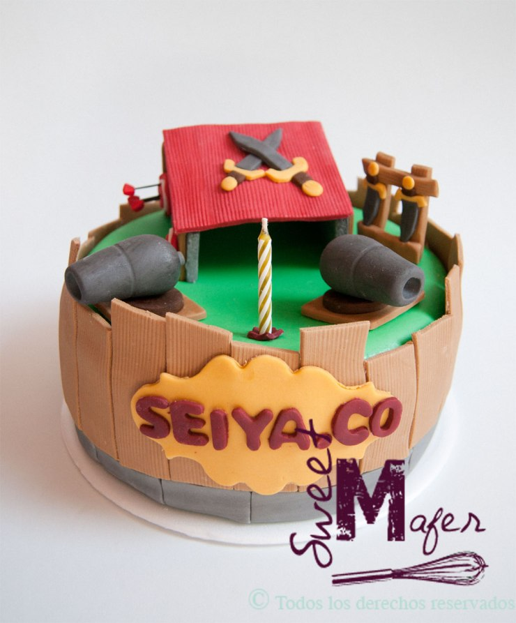 Torta de Cash of clans de Sweet Mafer