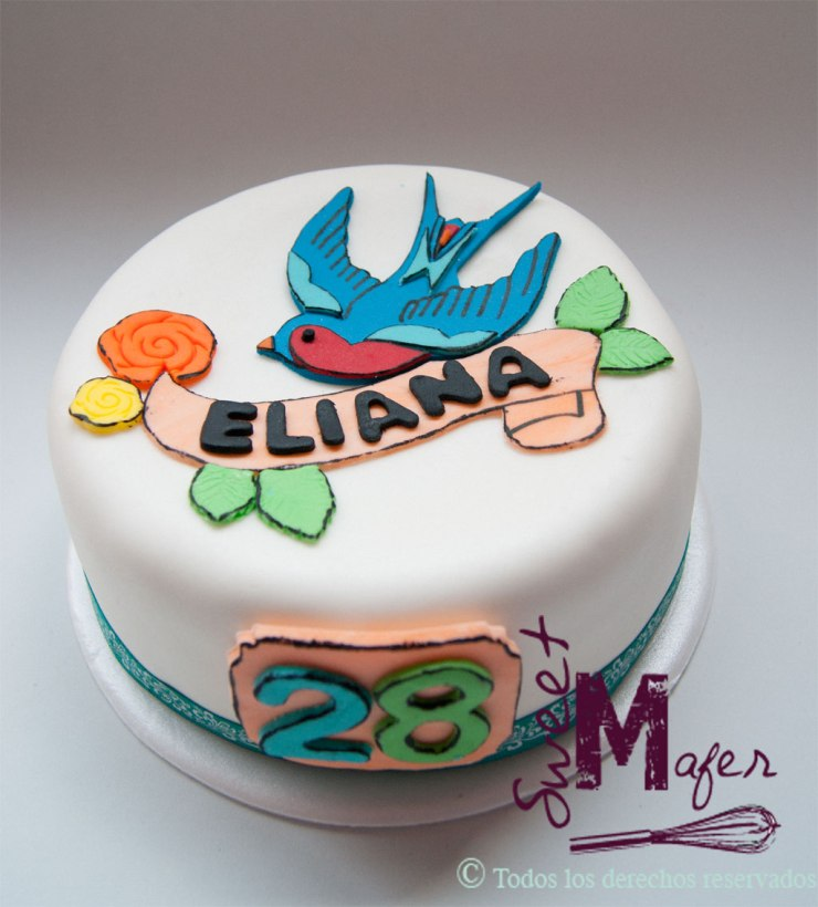 Torta tatuaje old style de Sweet Mafer