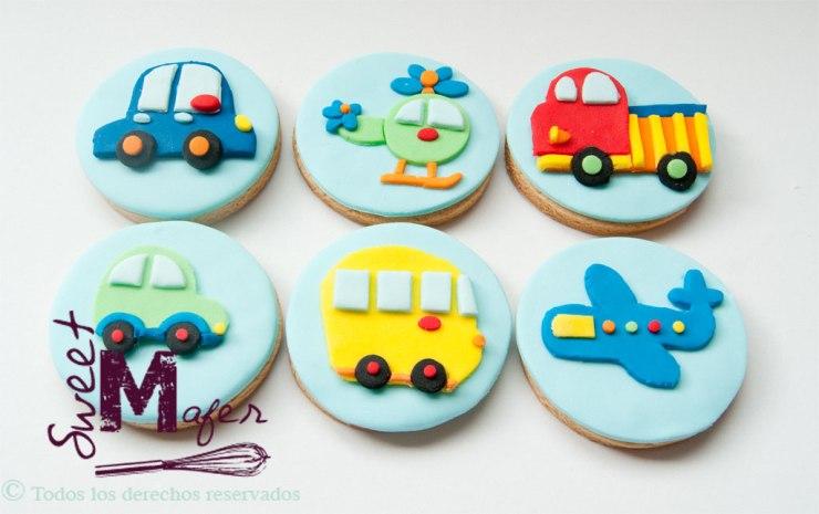 Galletas de carros y aviones de Sweet Mafer