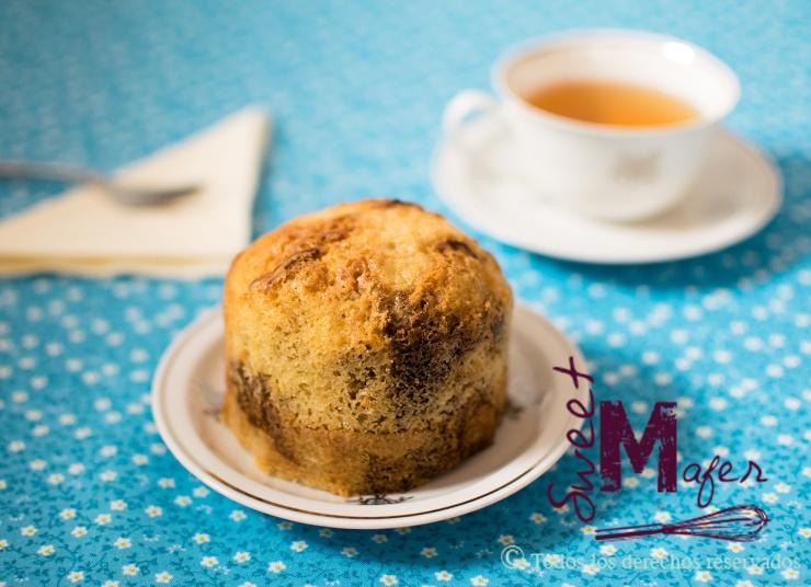 Torta marmolada de Sweet Mafer (mezcla de vainilla y chocolate)