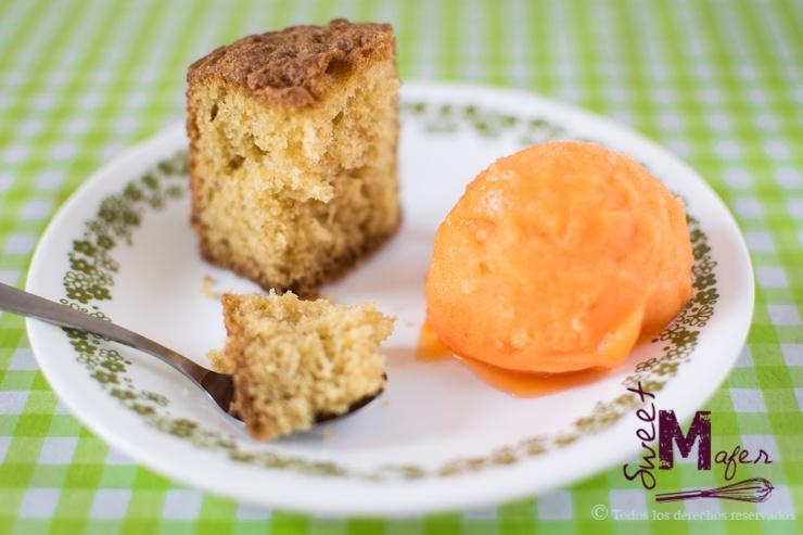 Torta de vainilla de Sweet Mafer con helado