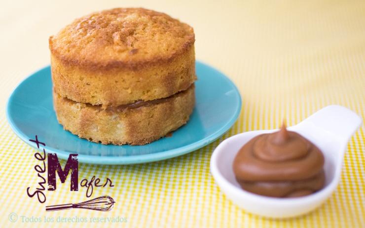 Torta de vainilla y arequipe de Sweet Mafer