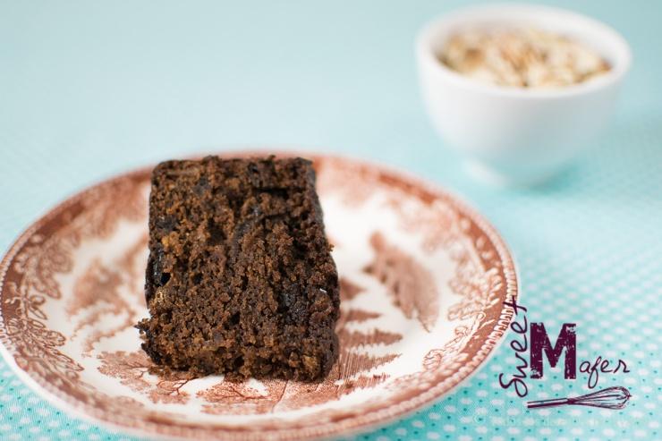 Rebanada de torta negra (o cake negro) de Sweet Mafer