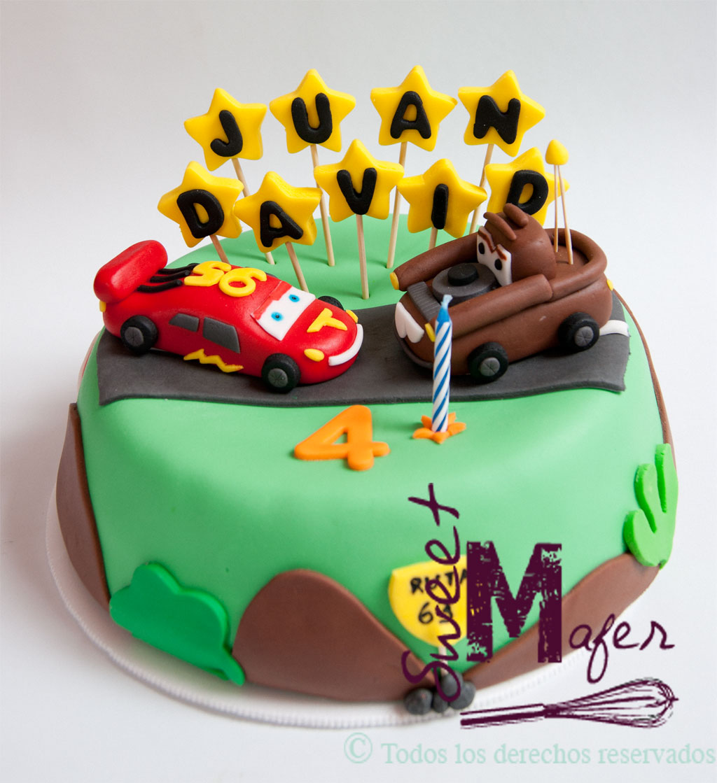 Torta Cars Con Rayo Y Mate