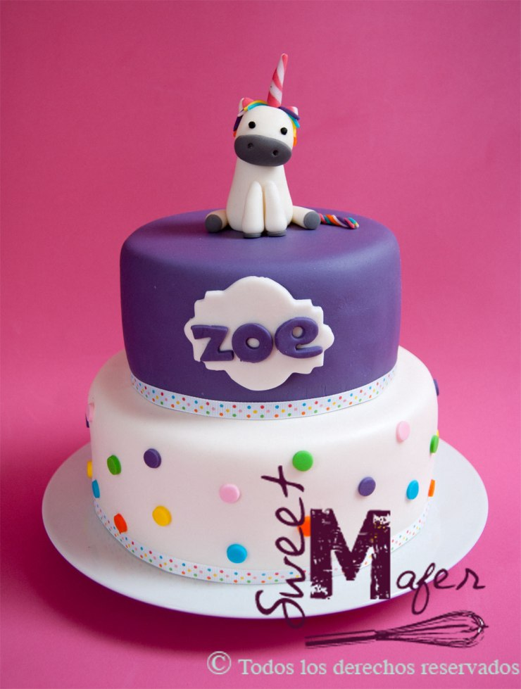 Torta unicornio de Sweet Mafer