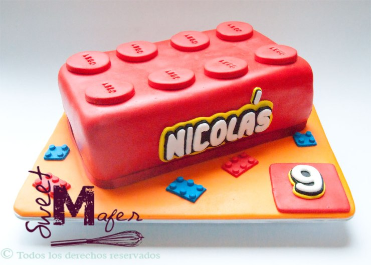 Torta ficha de lego