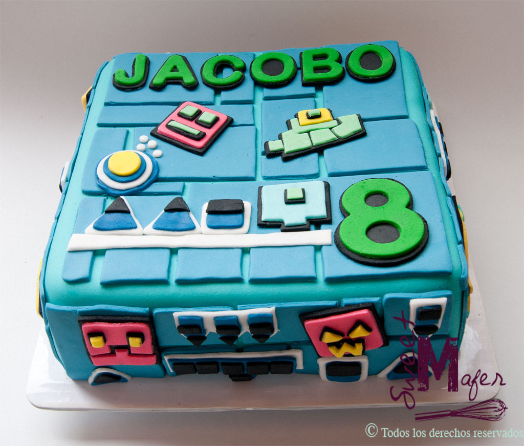 Torta Geometry Dash Para Jacobo