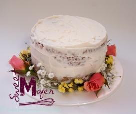 Torta Con Flores Naturales