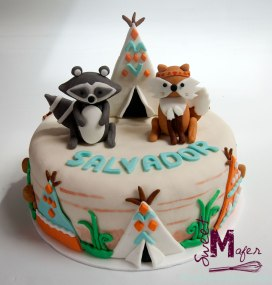 Torta tippies y animales