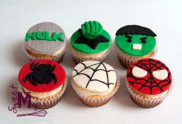 cupcakes-spiderman-y-hulk